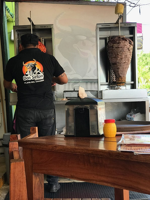 The trompo is a tell-tale sign that delicious tacos are on the horizon.
