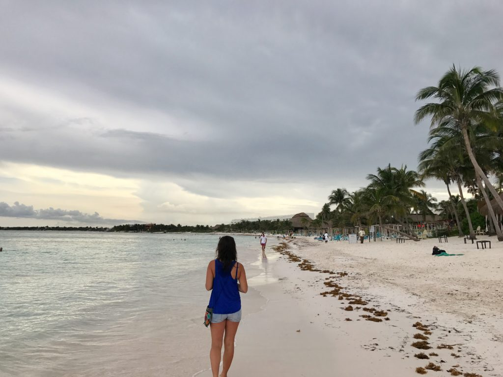 After swimming with turtles, take a walk along Akumal Beach