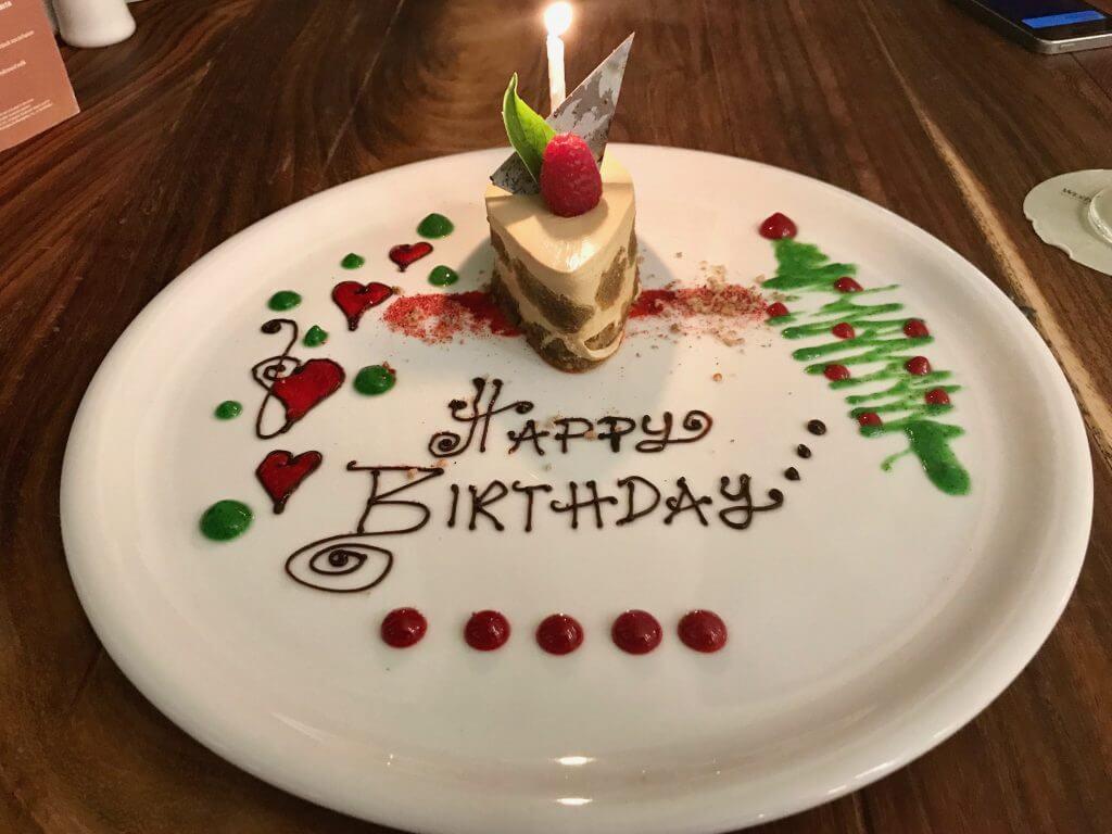 birthday cake at the westin cozumel