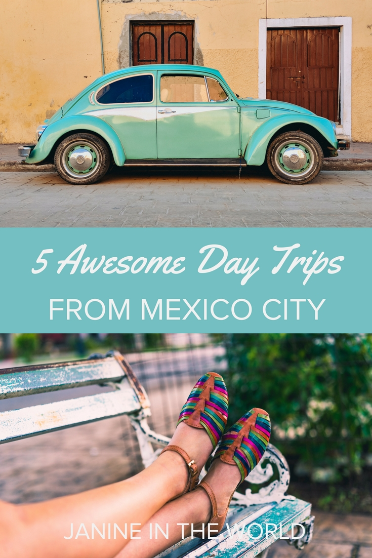 These awesome day trips from Mexico City are the perfect way to escape the intensity of city living and experience Mexico at a slower pace! Shop for silver in Taxco, Talavera tiles in Puebla, or climb a monolith in Querétaro, and more! Click through to learn more! #visitmexico #travelmexico #travel #mexico #mexicocity #puebla #taxco #queretaro #teotihuacan #cholula