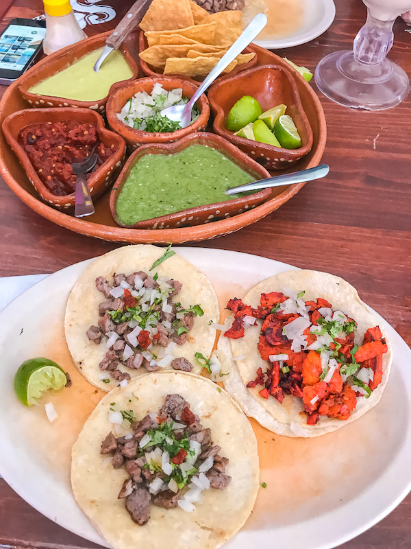 Tacos are one of the cheapest and tastiest foods to eat in Playa del Carmen