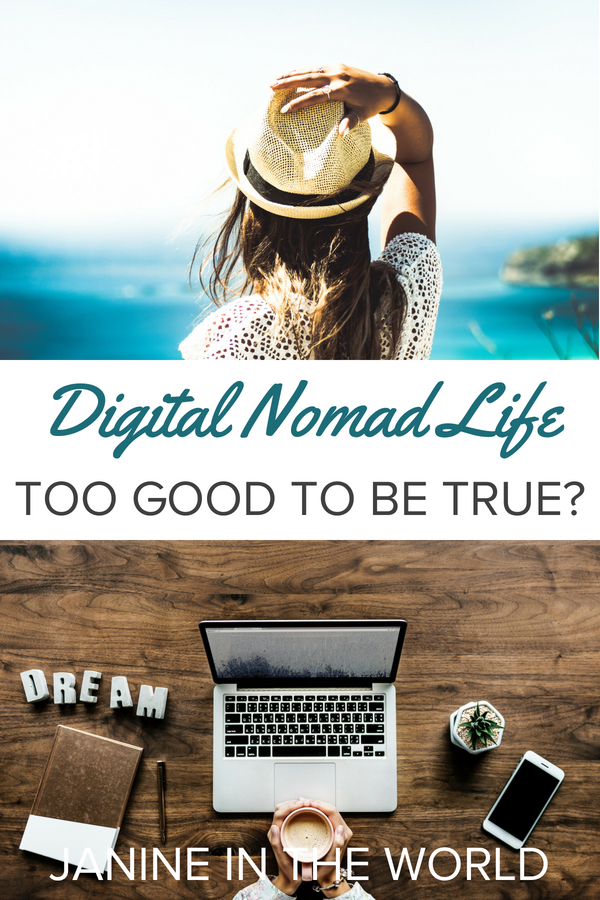 Many of us dream of living a location independent lifestyle and working online, but is it too good to be true? After one year as a digital nomad I'm sharing my thoughts. #digitalnomad #locationindependentlifestyle #workonline #workandtravel