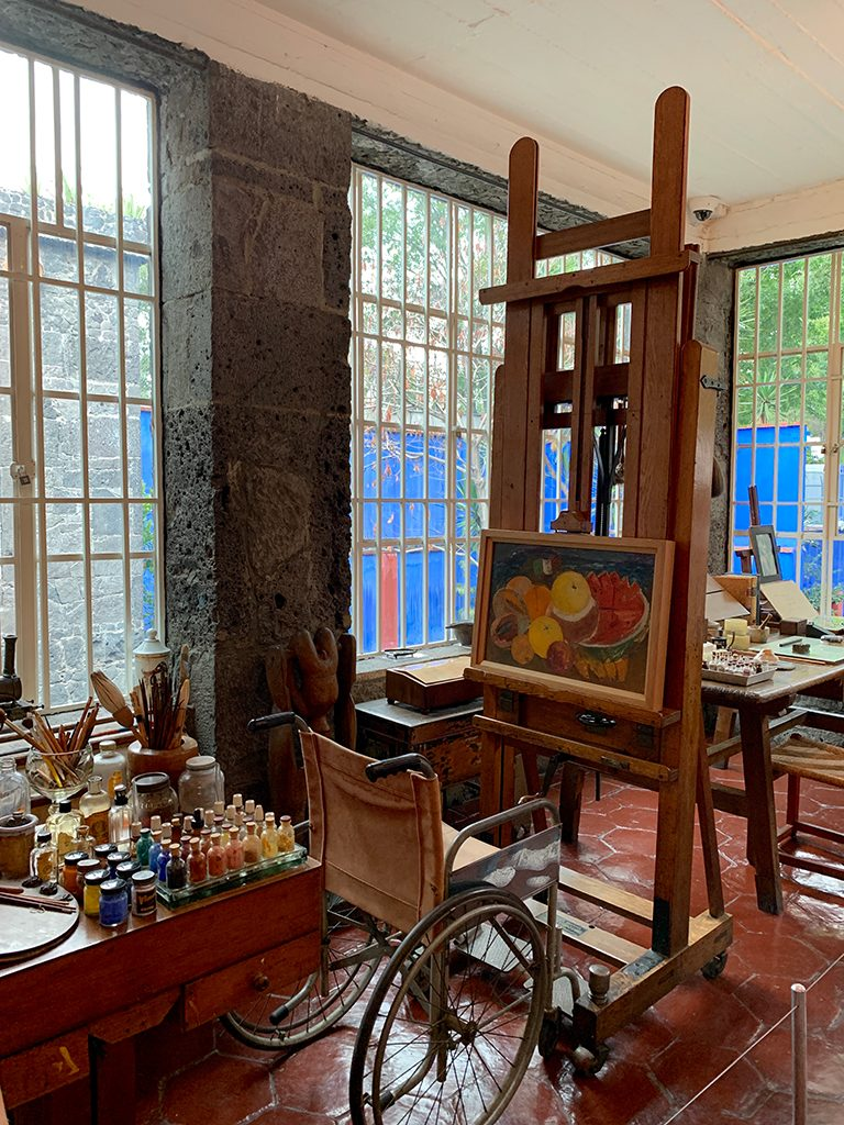 Frida Kahlo's painting studio in Coyoacán