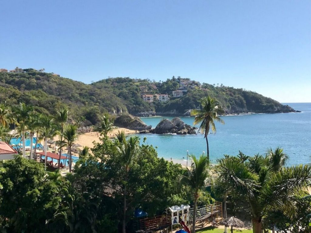 Huatulco, Oaxaca is a popular beach destination in Mexico