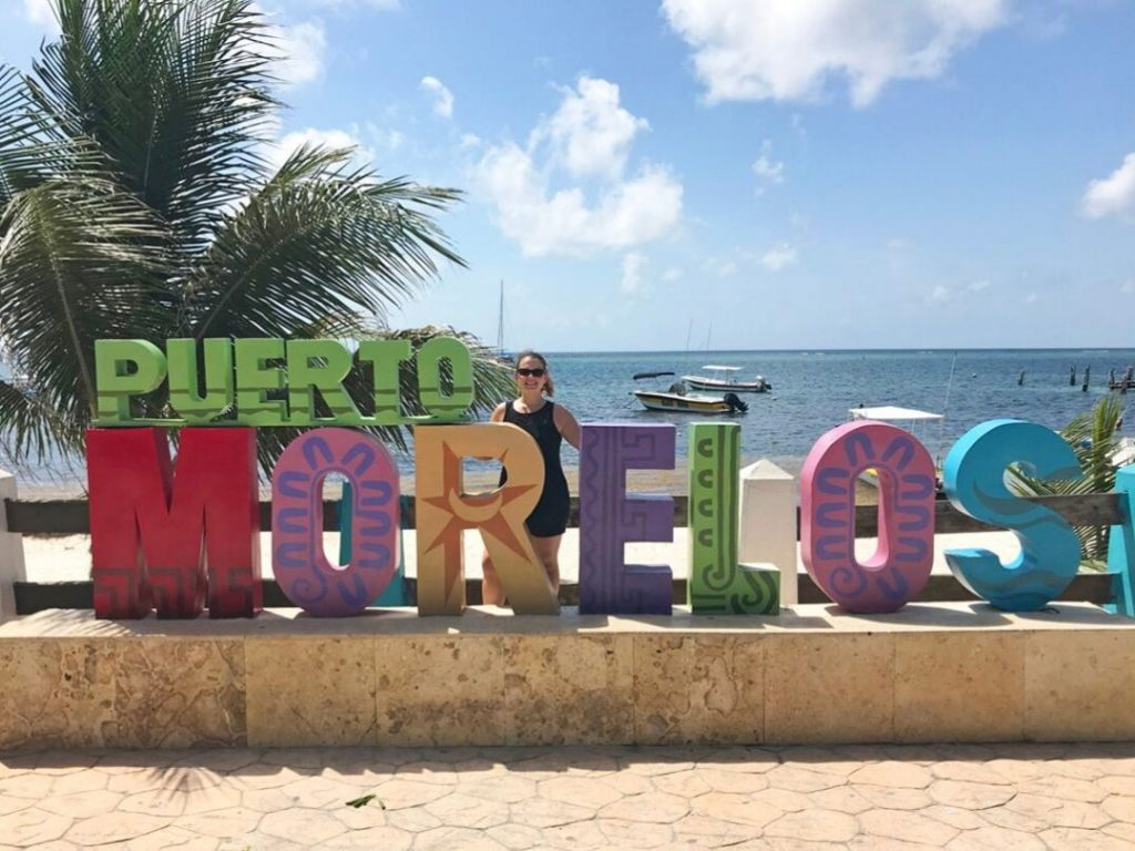 Puerto Morelos is an idyllic fishing village between Cancun and Playa del Carmen