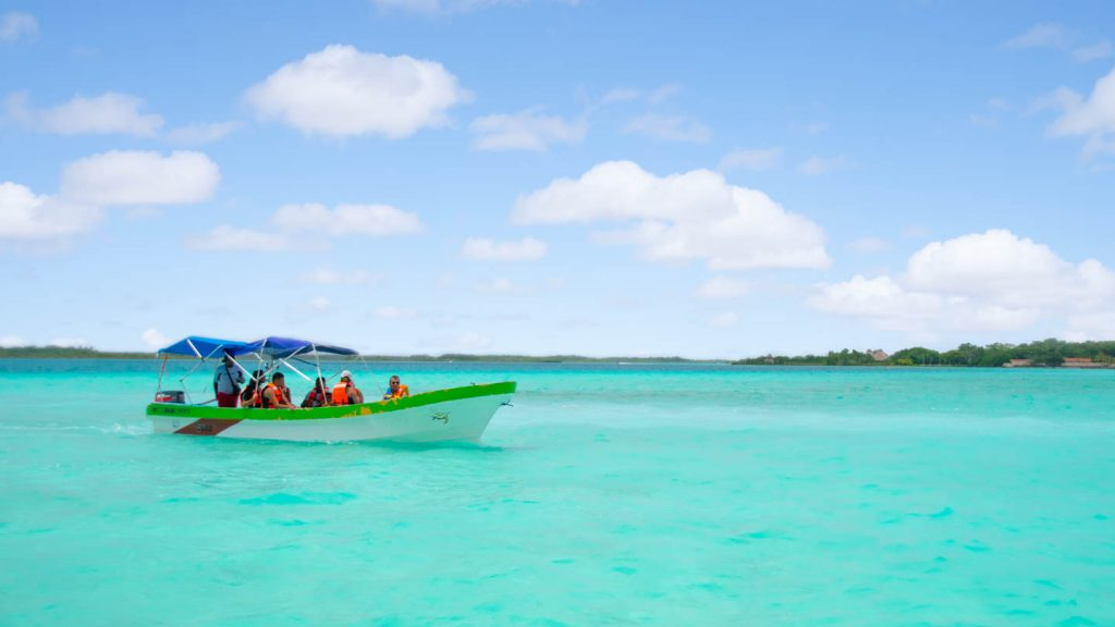 Bacalar Lagoon is commonly referred to as the Maldives of Mexico, and it's easy to see why!