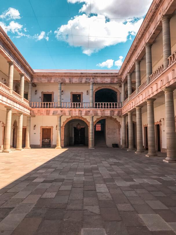 The courtyard of the Alhondiga de Granaditas in Guanajuato