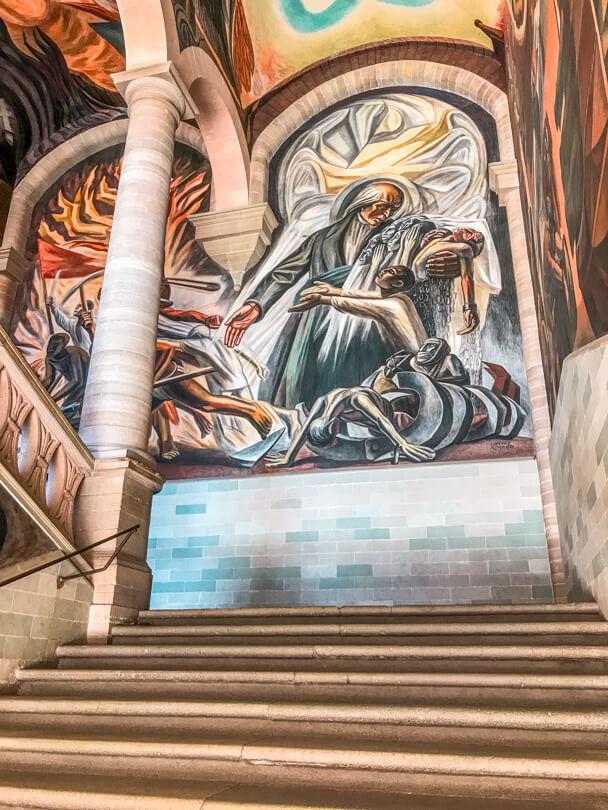 Mural at the Alhondiga de Granaditas in Guanajuato, Mexico