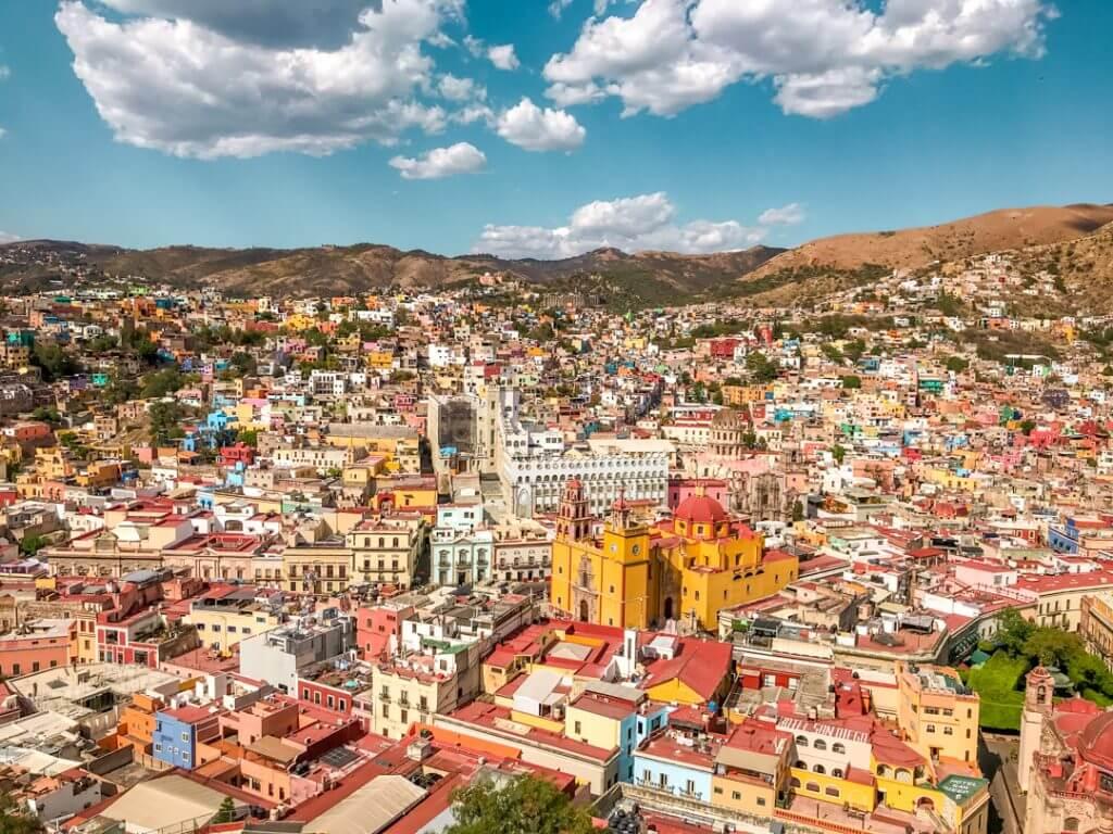 Panoramic view of Guanajuato, Mexico