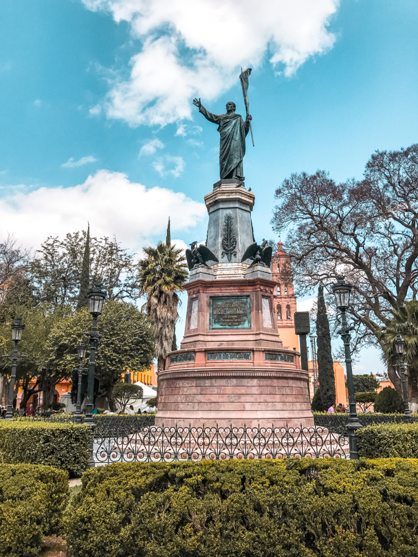 Statue of Miguel Hidalgo, who championed the Mexican War of Independence in the city of Dolores Hidalgo, Guanajuato