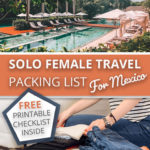 solo female travel packing list for Mexico