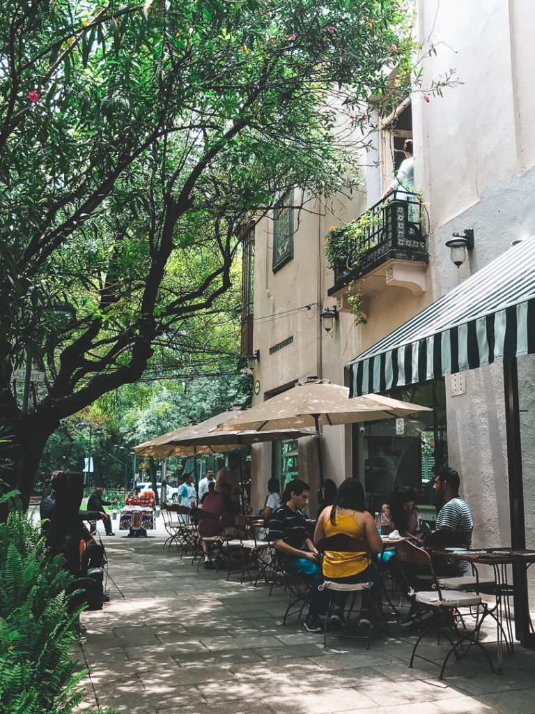 There is no shortage of sidewalk cafes in Condesa, Mexico City.