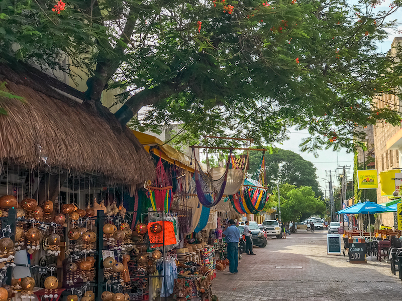 There are tons of souvenirs for sale on La Quinta Avenida