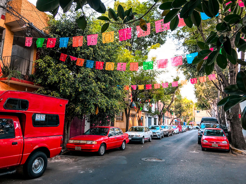 Colorful Street Coyoacan, Mexico