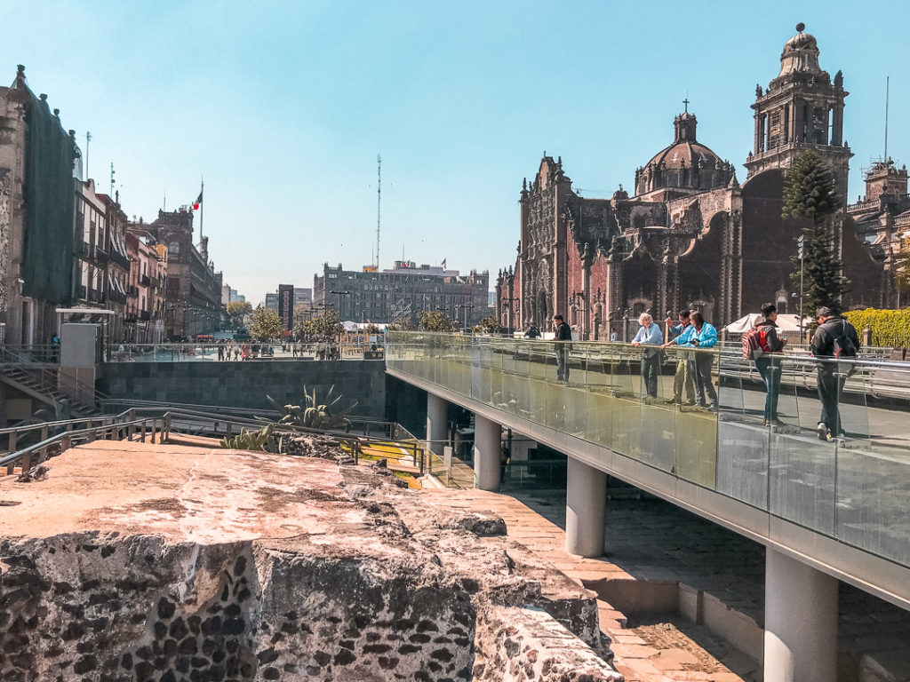 Templo Mayor ruins in Mexico City