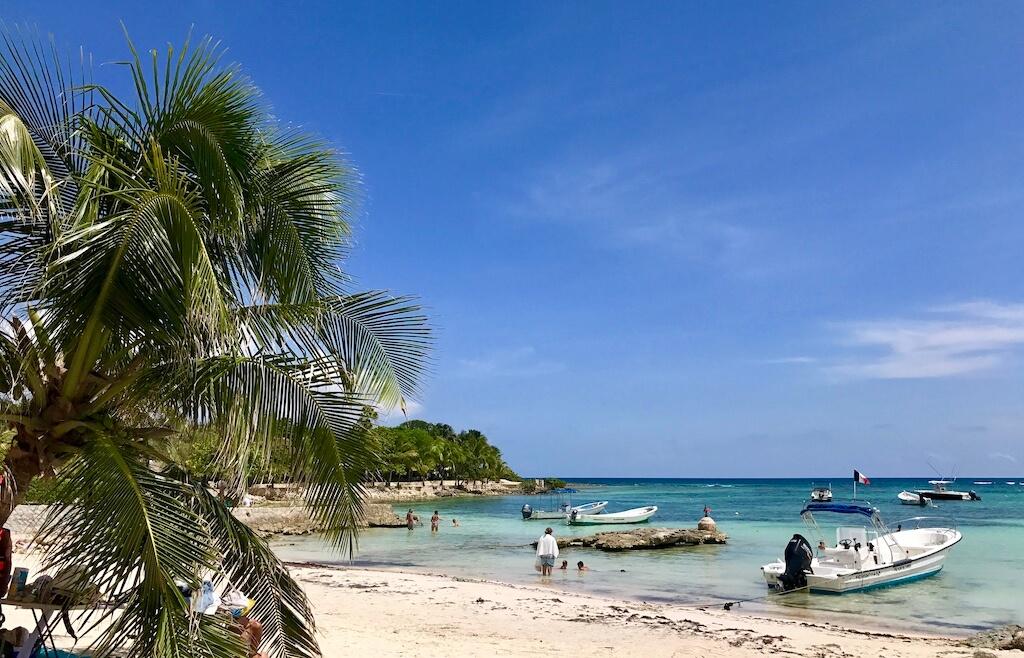 Akumal is a peaceful bay in the Riviera Maya