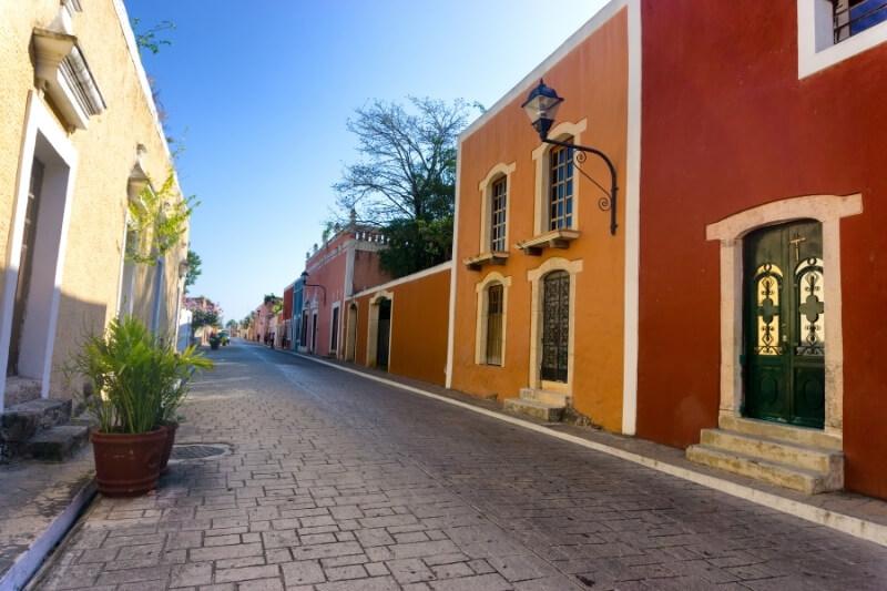 cobblestone streets and colorful facades of Valladolid, Mexico