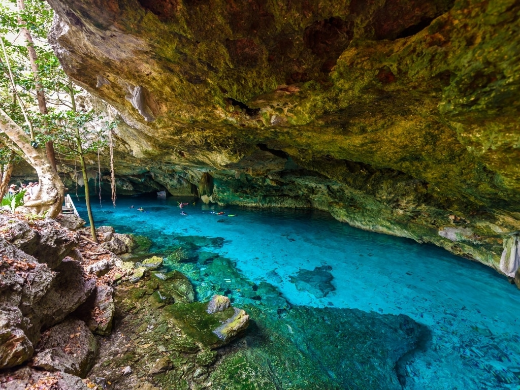 cenote dos ojos makes a great day trip from tulum or playa del carmen