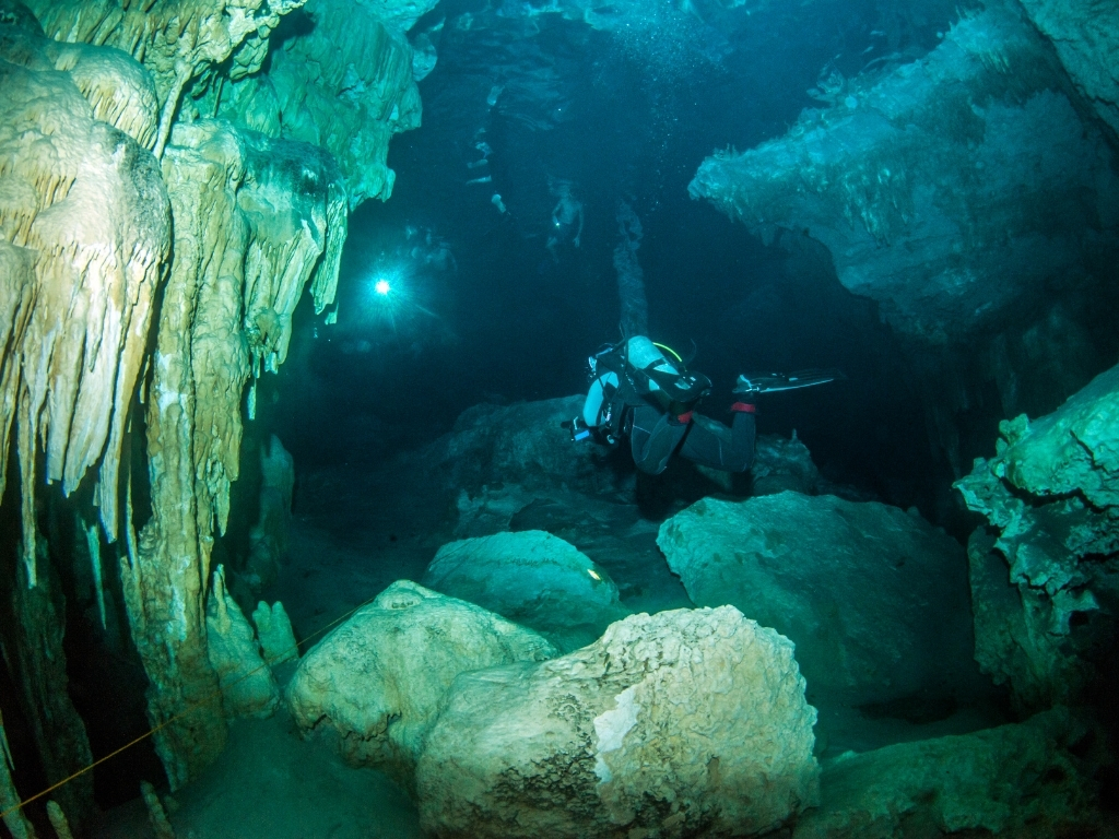 The Dos Ojos Cenotes are part of one of the largest underwater cave systems in the Yucatan peninsula.