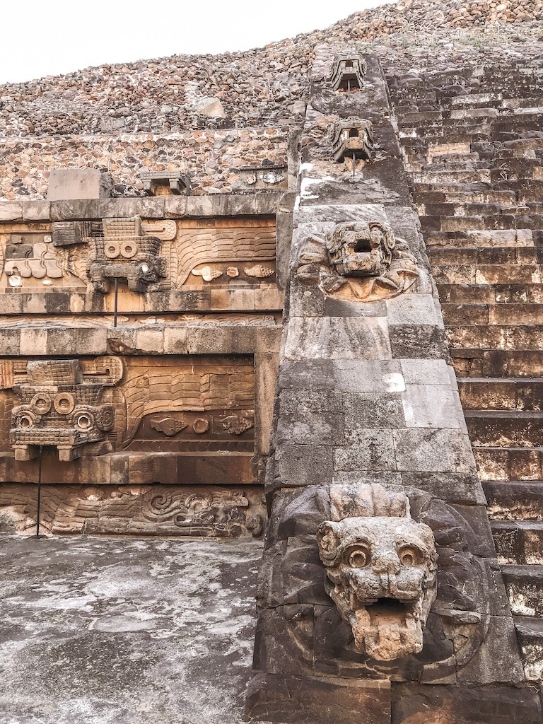 Temple of Quetzacoatle at Teotihuacan!