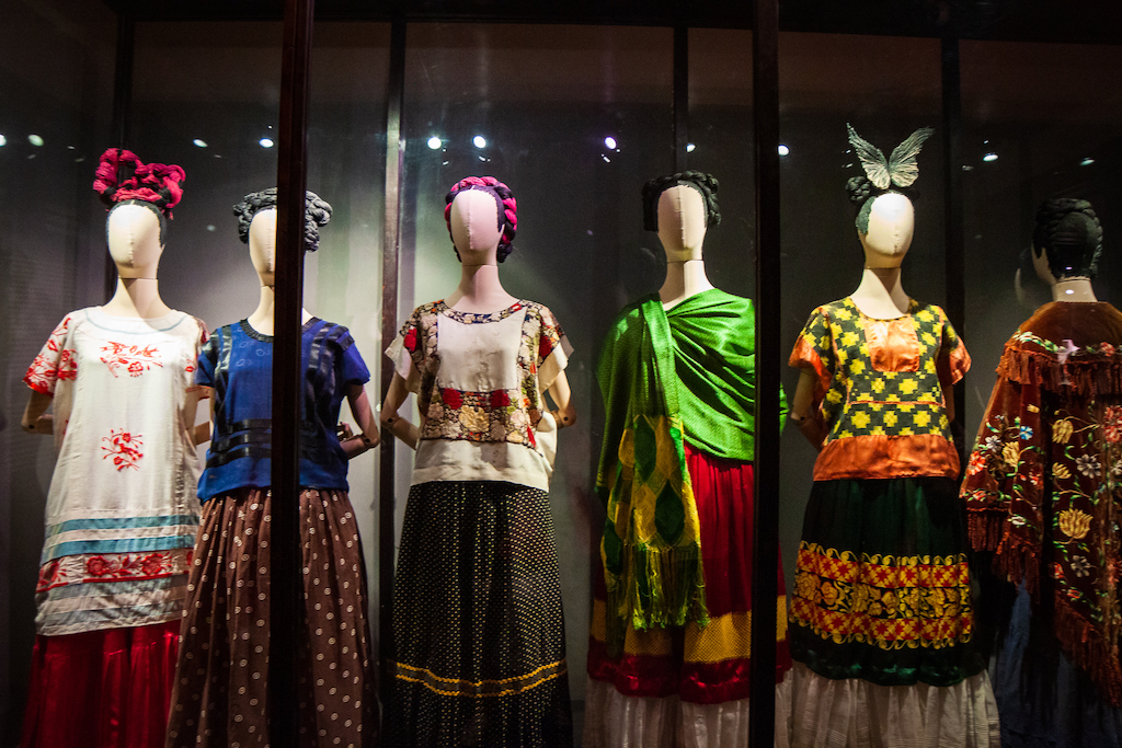 One of the most compelling exhibits within the Casa Azul is the one dedicated to Frida Kahlo's clothing.
