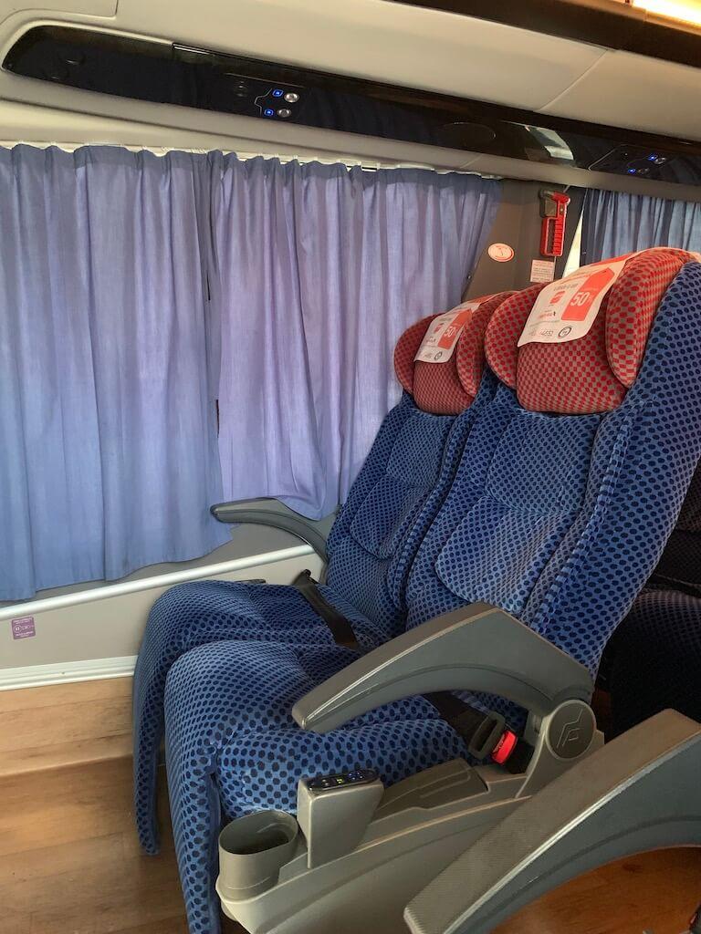 ADO GL bus seats are very comfortable